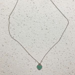 Turquoise Heart w/ sterling silver chain